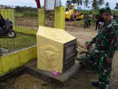 Pembangunan tugu prasasti di Desa Cot Trieng jadi sejarah program TMMD-112